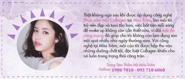 Hút Thâm Phun Môi Collagen Vi Chạm Cho Nữ 7