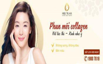 Hút Thâm Phun Môi Collagen Vi Chạm Cho Nữ