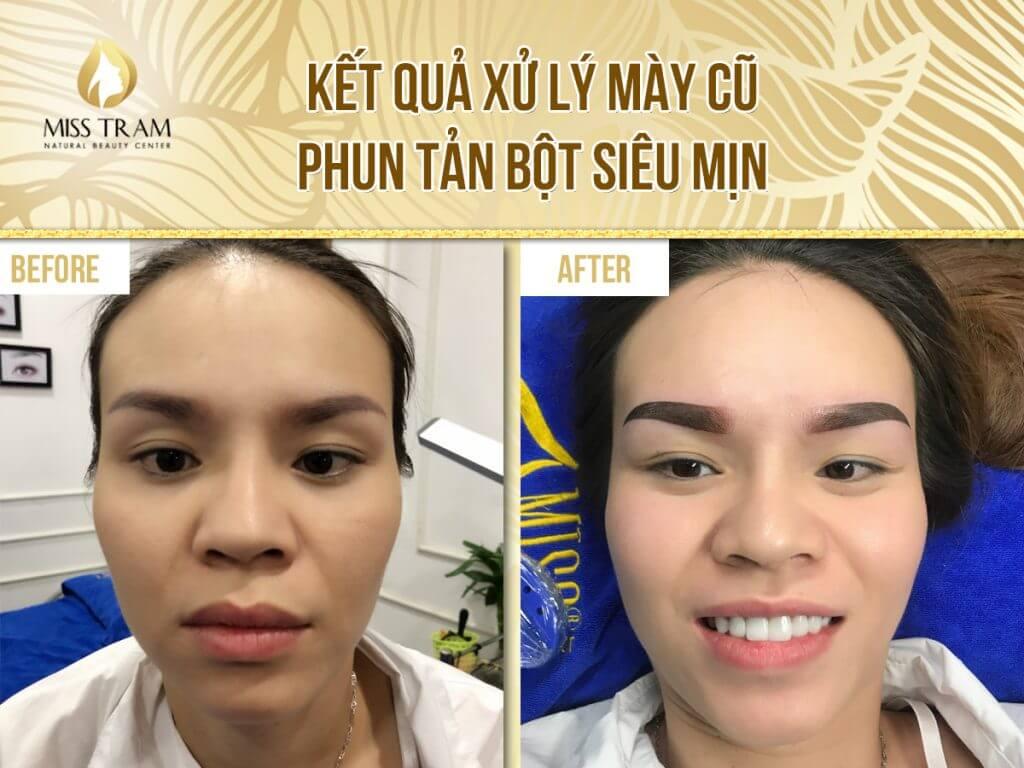 Kết quả xử lý mày cũ, phun tản bột siêu mịn – KH20180