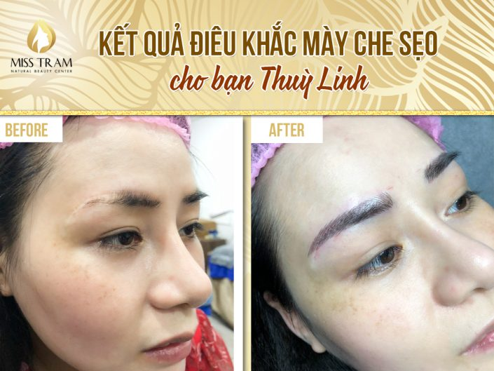 Results sculpting eyebrow mask for you Thuy Linh