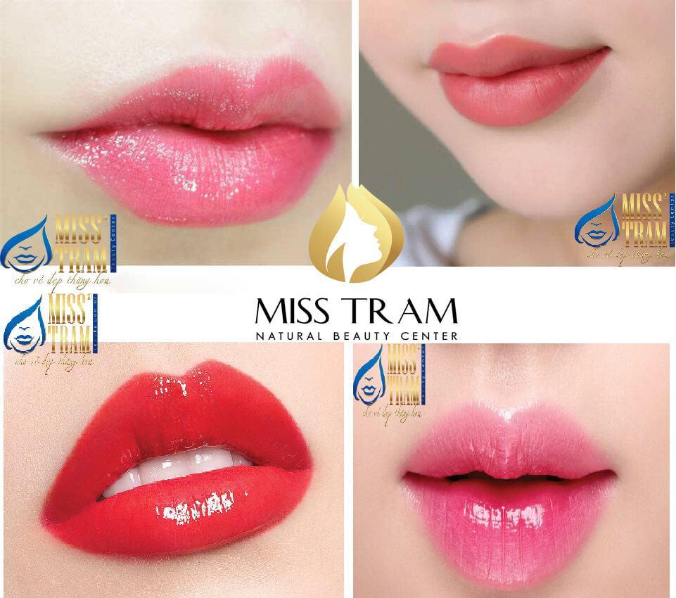 Công nghệ phun môi collagen chuẩn đẹp tại Miss Tram