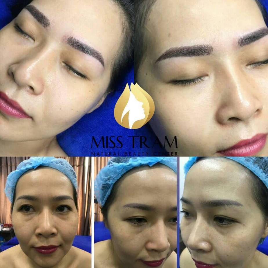 Top of the eyebrow sculpting / spraying / embroidery site in Saigon - Sculpting Foot Sculpting Yarn 5D Ho Chi Minh City's Prestigious Eyebrow Sculpture