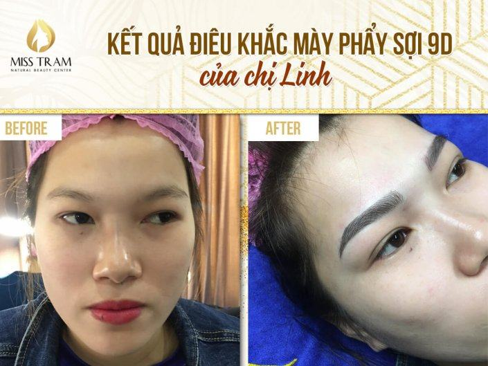 9D Scraping Sculpting Result, Improving Pale Eyebrows Of Ms. Linh