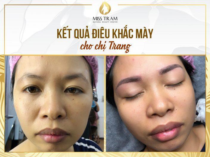 Tạo Dáng Mày, Điêu Khắc Mày Phẩy Sợi Đẹp Cho Chị Trang