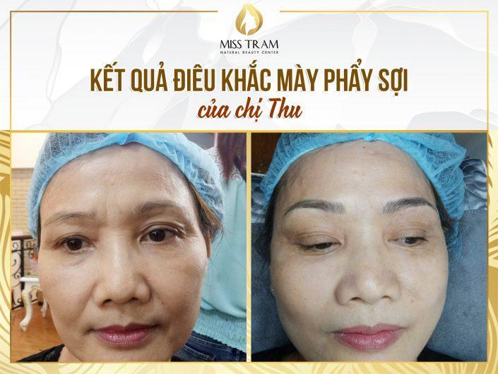 Kết Quả Điêu Khắc Mày Cho Chị Thu Tại Miss Tram Nature Beauty Center