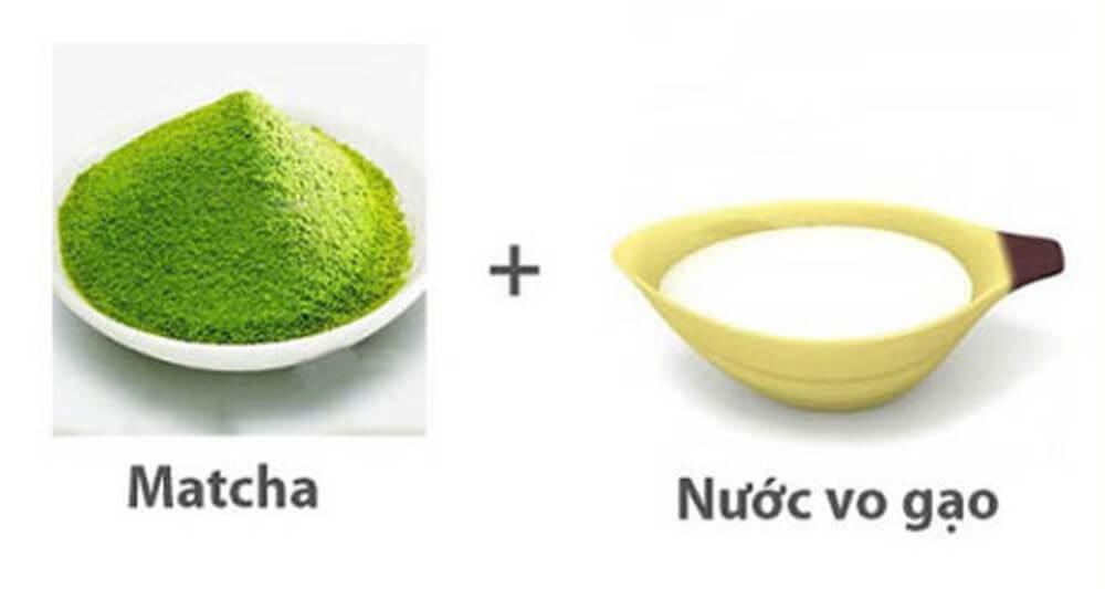 mặt nạ từ bột trà xanh và nước vo gạo cho da dầu