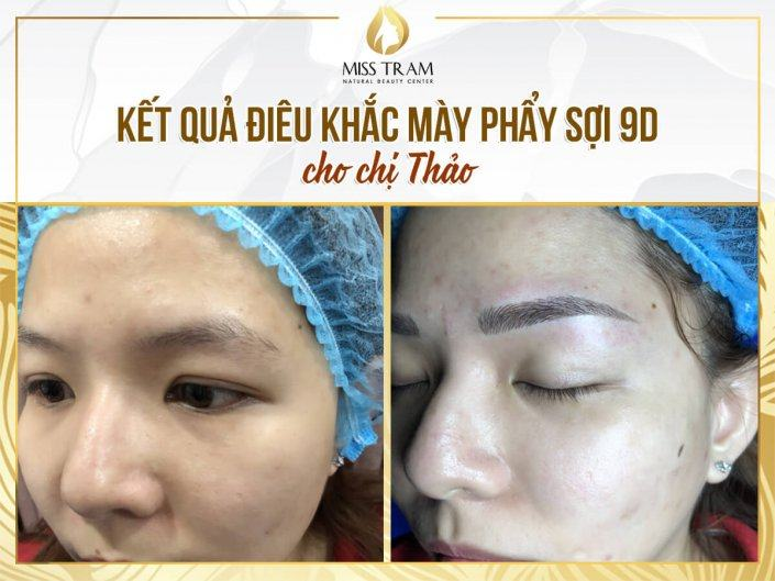 Create a Standard Eyebrow - Sculptor Scraping 9D For Ms. Thao
