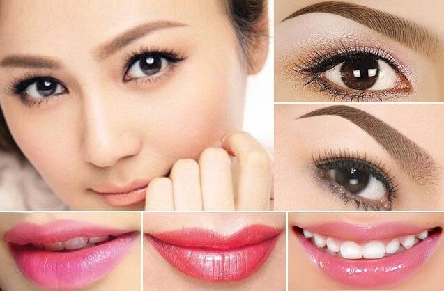 Compare lip sculpting that sculpted eyebrows