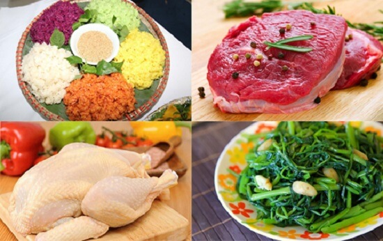 thực phẩm hạn chế sử dụng sau khi phun mí mắt