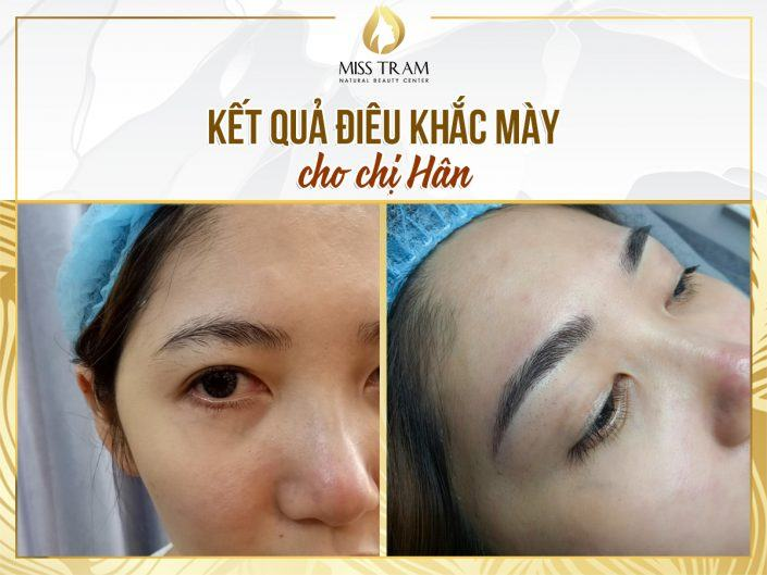 Photo Results Sculpting Eyebrow Scrap Beautiful, Standard For Ms. Hân