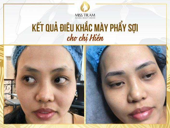 The Results Using Eyebrow Sculpting Technology For Ms. Hien