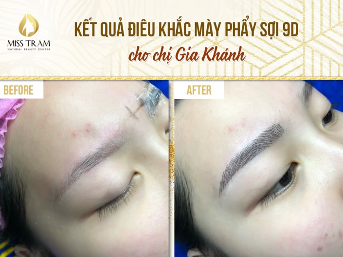 Actual Result Sculpting Eyebrow 9D Fiber For Ms. Gia Khanh