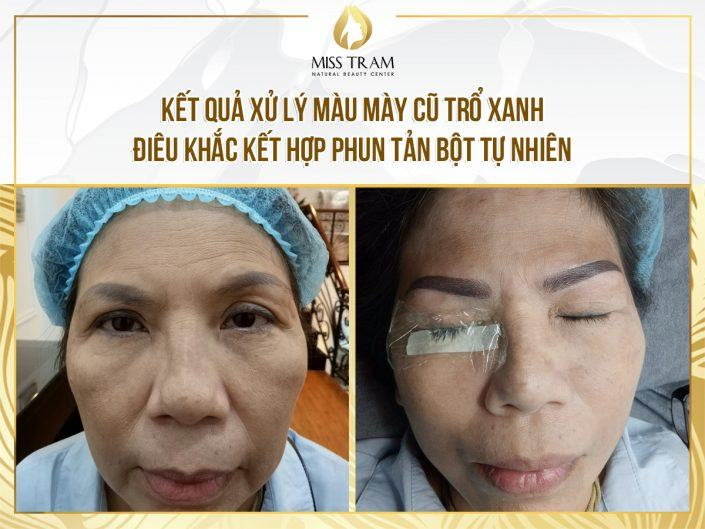 Treating Old Eyebrows With Blue Sculpting, Sculpting You Combined With Natural Powder Spraying