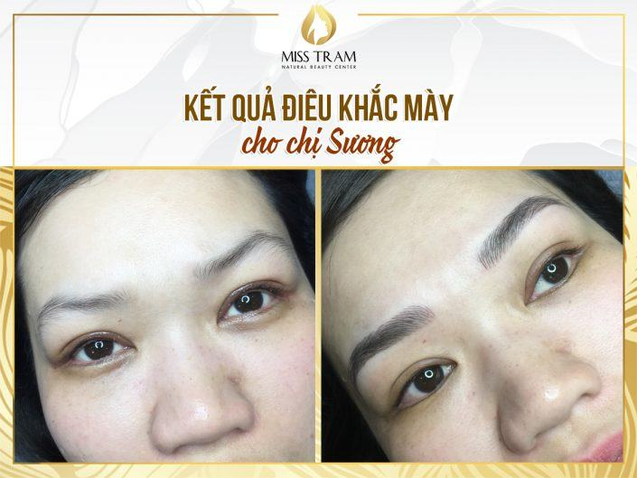 Technology Results Sculpting Beautiful Eyebrow For Ms. Suong