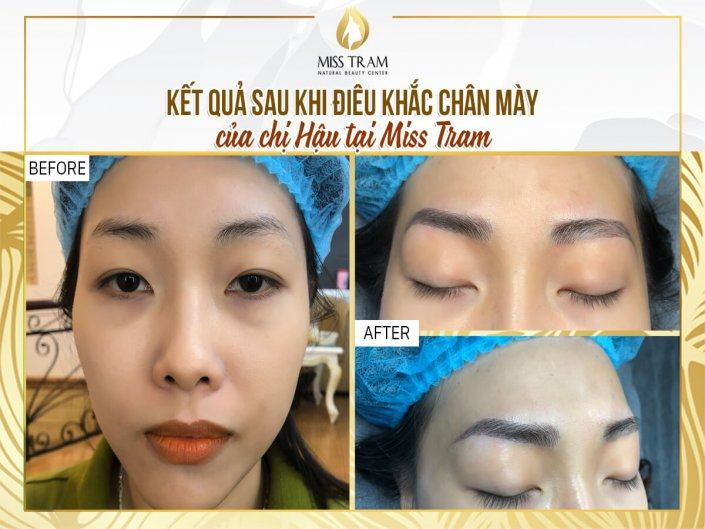 The Results of Sculpting Eyebrow Scraping Natural Fiber For Ms. Hau