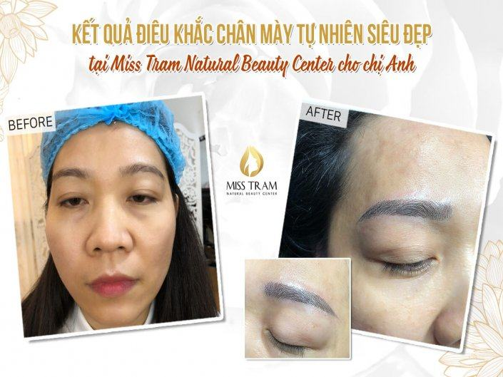 The result of Anh Anh's beautiful Natural Eyebrow Sculpture
