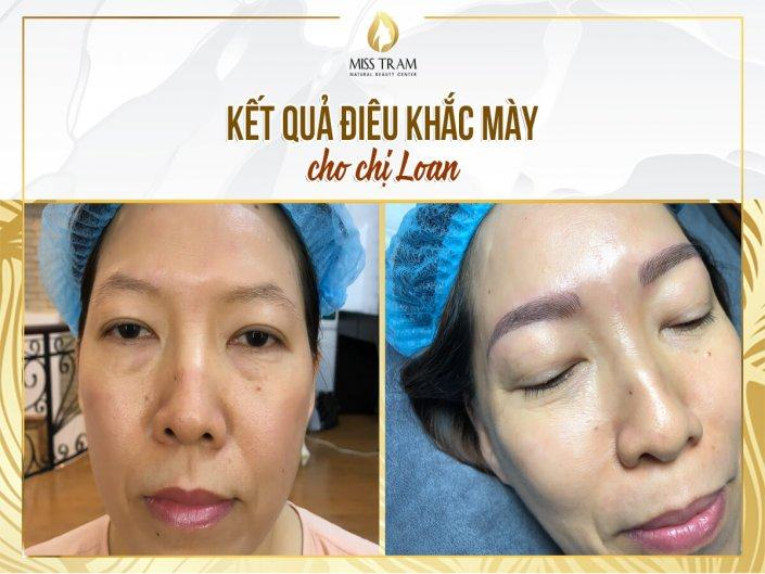 The Results of Sculpting Eyebrow Scraping Natural Fiber For Ms. Loan