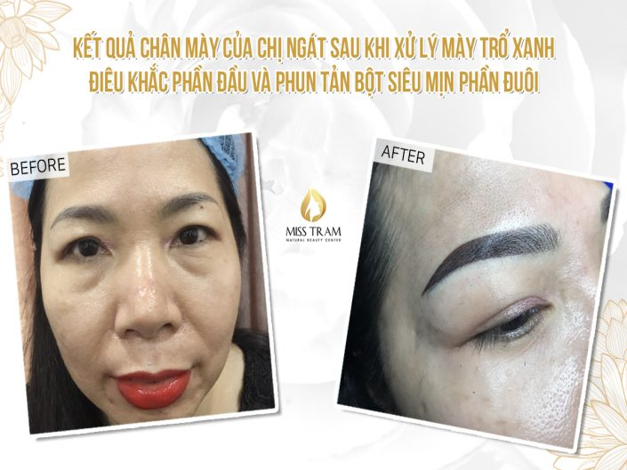 Green Eyebrow Sculpting Treatment, Head Sculpting & Eyebrow Spraying For Ms. Ngát