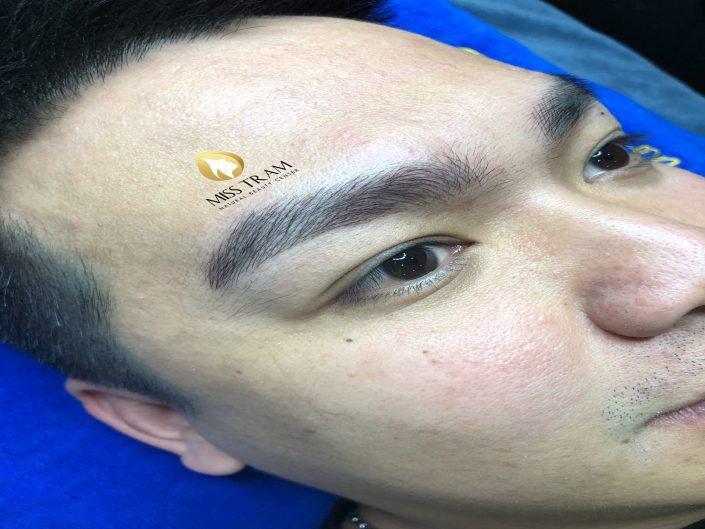 Kết Quả Điêu Khắc Chân Mày Cho Anh Đạt Tại Miss Tram Natural Beauty Center