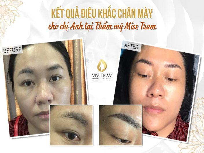 The Result of Anh Anh's Beautiful Eyebrow Sculpture