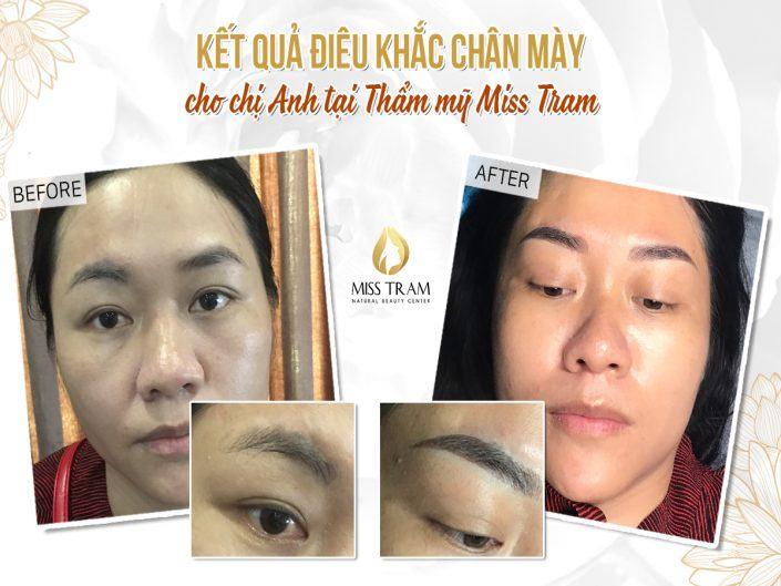 Kết Quả Điêu Khắc Chân Mày Của Chị Anh Tại Miss Tram Natural Beauty Center