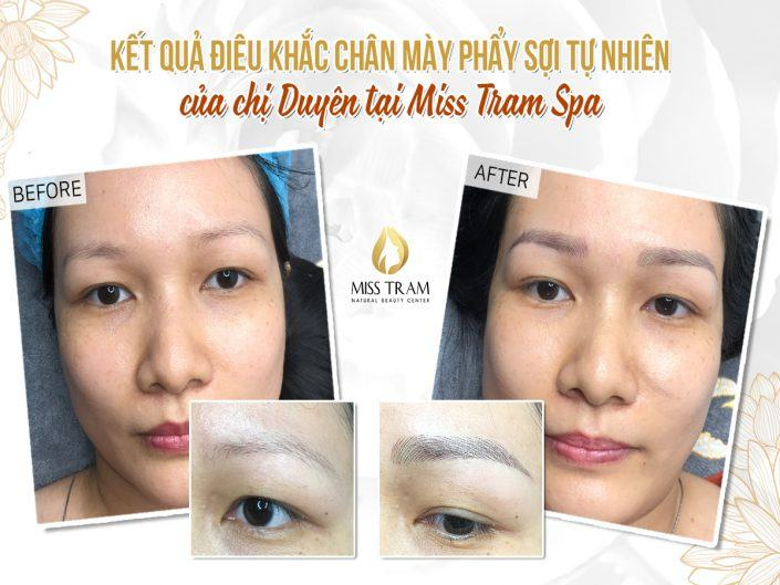 The Results of Sculpting Eyebrows Committing Natural Fiber Of Ms. Duyen