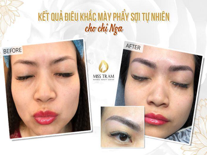 Kết Quả Làm Đẹp Chân Mày Cho Chị Nga Tại Miss Tram Natural Beauty Center