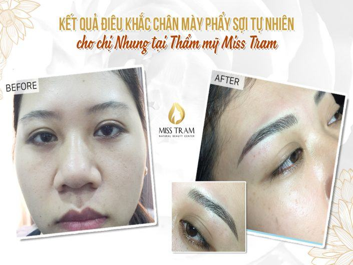 Result Of Beautiful Eyebrow Sculpture For Nhung
