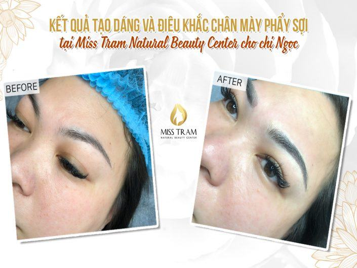 The Results of Sculpting Eyebrow Scraping Natural Fiber For Ms. Ngoc