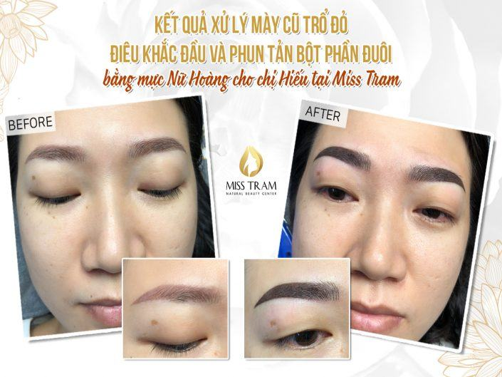 The Result of Sister Hieu After Treatment of Red Blowing - Sculpting Head & Spraying Tail Powder