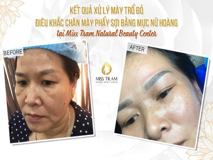 Sculpting Eyebrows for Ms Nga with Herbal Extract Ink 100%