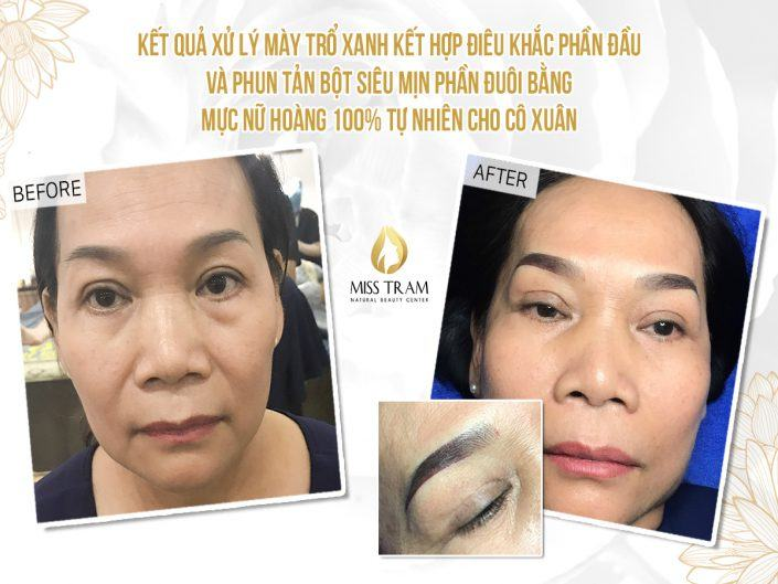 Green Eyebrow Treatment - Sculpting Head & Spraying Tail Powder For Ms. Xuan
