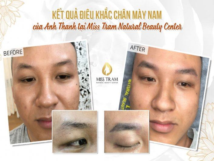 Results of Anh Thanh's Eyebrow Sculpting