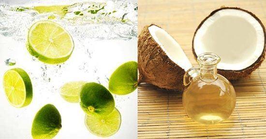 công thức làm trắng da mặt từ nước cốt chanh và dầu dừa