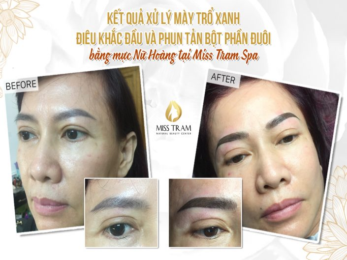 Green Treatment - Head Sculpting And Eyebrow Spraying For Ms. Vy