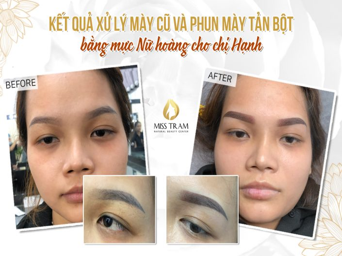 Results Of Treatment And Spraying Powder Eyebrow Powder With Queen For Ms. Hanh