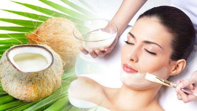 trẻ hóa da hiệu quả với dầu dừa