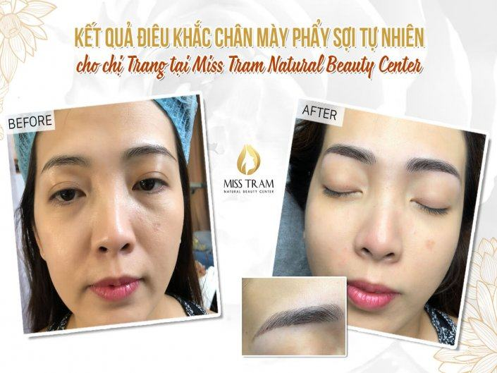 The Results of Eyebrow Beauty for Sister Trang By Sculpture