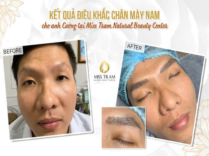 The Result of Sculpting Eyebrow Beauty for Anh Cuong
