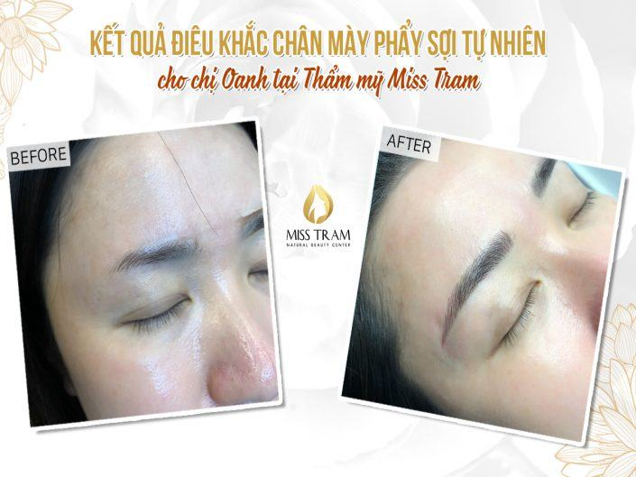 The Results of Sculpting Eyebrows with Natural Fiber For Ms. Oanh