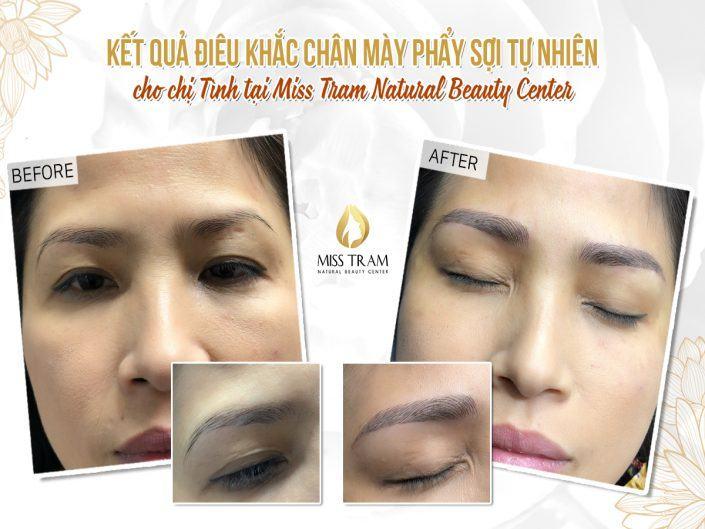 Điêu Khắc Chân Mày Cho Chị Tình Tại Miss Tram Natural Beauty Center