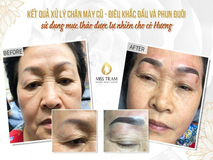 Old Eyebrow Treatment - Head Sculpture Combined Spraying Powder For Ms. Huong
