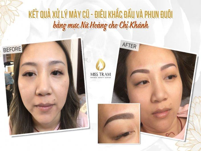 Old Eyebrow Treatment - Head Sculpting And Tail Spraying For Khanh