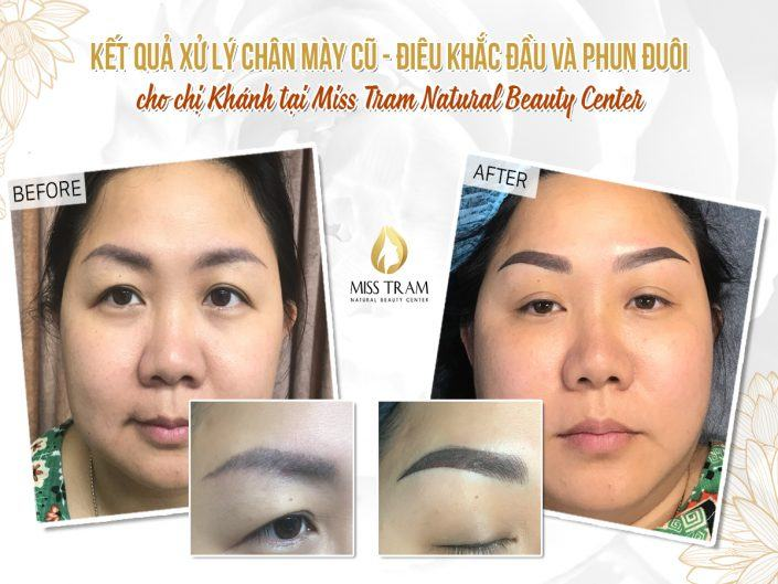 Results of Old Eyebrow Treatment - Head Sculpture And Tail Spraying For Ms. Khanh