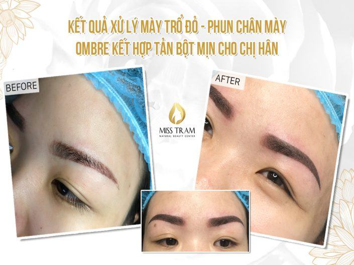 Result Of Red Treatment - Ombre Eyebrow Spray Combined With Fine Powder For Ms. Han