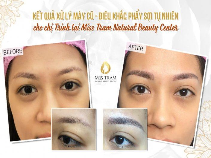 Handling Old Pale Eyebrows - Sculpting New Brow For Trinh