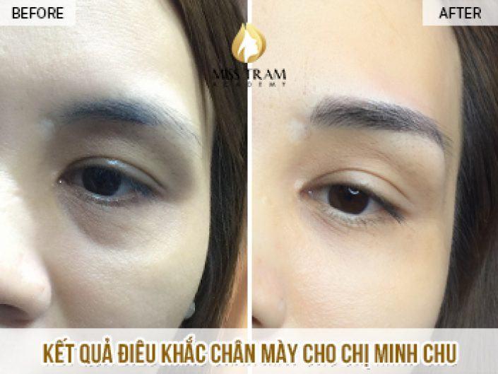 Điêu Khắc Chân Mày Đẹp Cho Chị Minh Chu
