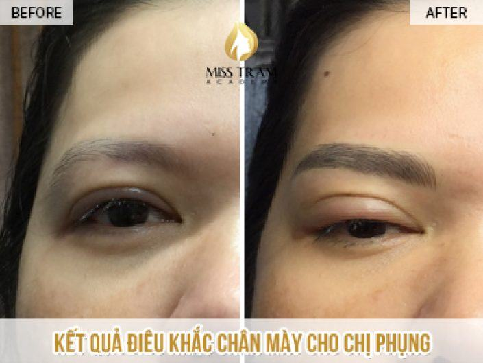 The Results of Sculpting Naturally Beautiful Eyebrows For Ms Phung