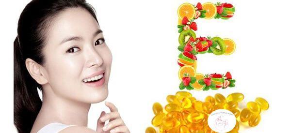 giảm thâm nám bằng vitamin e
