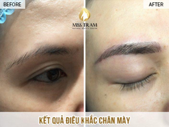 Kết Quả Điêu Khắc Chân Mày Cho Chị Phượng Tại Miss Tram Natural Beauty Center